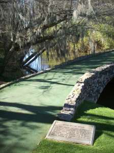 The Byron Nelson Bridge, taking you to #13, after you've triple-bogeyed at Amen Corner