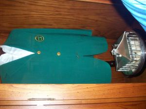 the champion's green jacket
